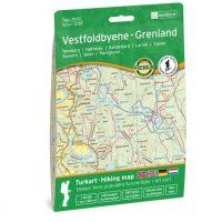 Wandelkaart 3035 Topo 3000 Vestfoldbyene - Grenland | Nordeca