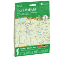 Wandelkaart 3036 Topo 3000 Indre Østfold - Ostfold | Nordeca