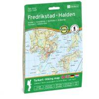 Wandelkaart 3037 Topo 3000 Fredrikstad - Halden | Nordeca
