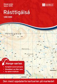 Wandelkaart - Topografische kaart 10176 Norge Serien Rasttigaisa | Nordeca