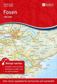 Wandelkaart - Topografische kaart 10094 Norge Serien Fosen | Nordeca